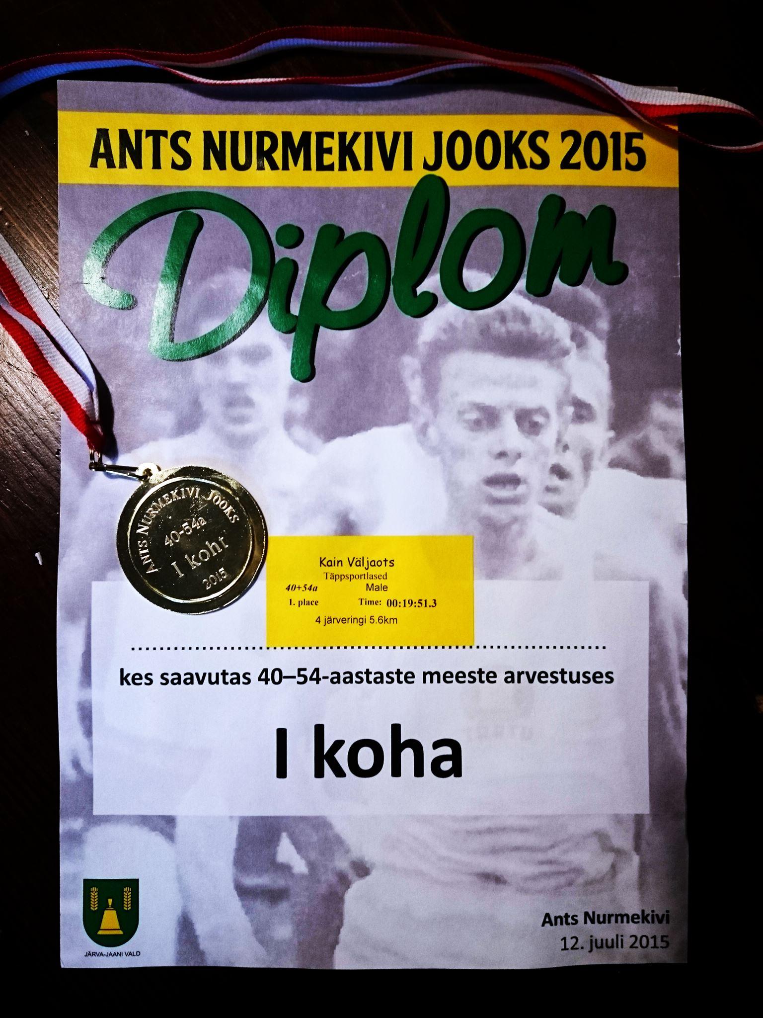 , Ants Nurmekivi jooks, Täppsportlased
