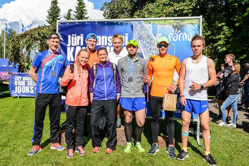 , Jüri Jaansoni 2 silla jooks, Täppsportlased