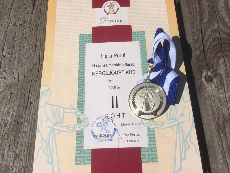 , Heiki Pruul võitis Harju maakonna meistrivõistluste 1500 m jooksus II koha!, Täppsportlased